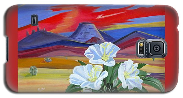 Galaxy S5 Case featuring the painting Evening Primrose by Phyllis Kaltenbach