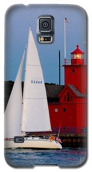 Evening Sail At Holland Light Galaxy S5 Case