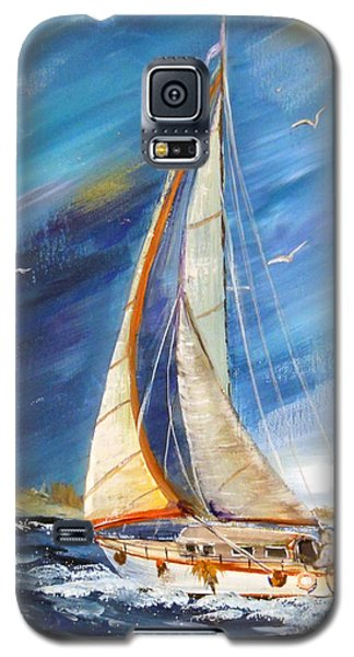 Evening Sailing Galaxy S5 Case by Dorothy Maier