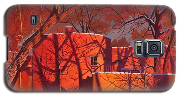 Evening Shadows On A Round Taos House Galaxy S5 Case by Art James West