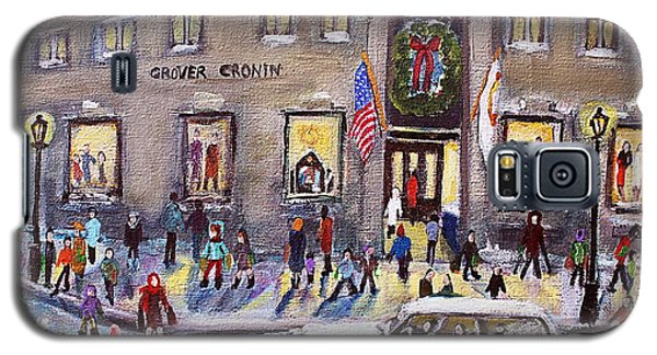 Galaxy S5 Case featuring the painting Evening Shopping At Grover Cronin by Rita Brown