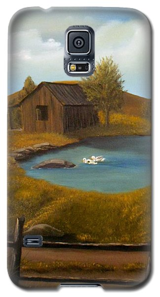 Galaxy S5 Case featuring the painting Evening Solitude by Sheri Keith