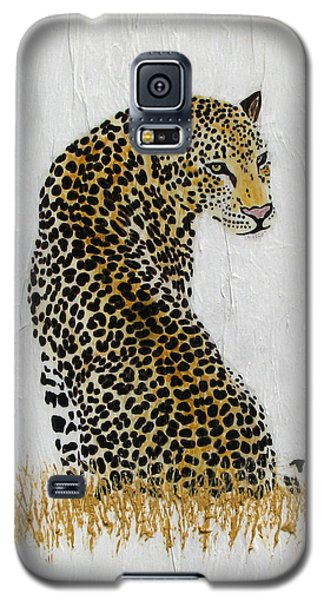 Galaxy S5 Case featuring the painting Ever Watchful by Stephanie Grant
