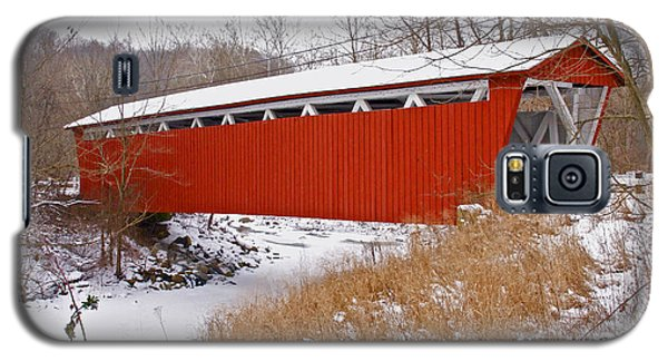 Everett Rd. Covered Bridge In Winter Galaxy S5 Case