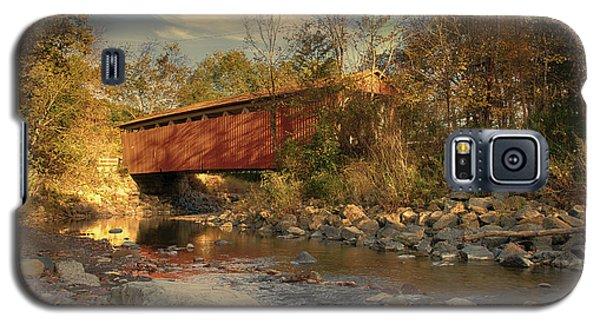 Everett Rd Summit County Ohio Covered Bridge Fall Galaxy S5 Case