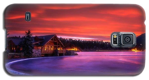Evergreen Lake Sunrise Galaxy S5 Case
