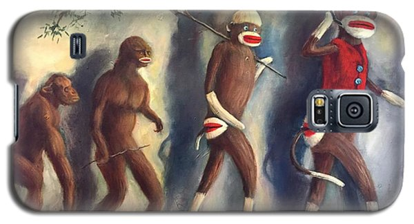 Galaxy S5 Case featuring the painting Evolution by Randol Burns