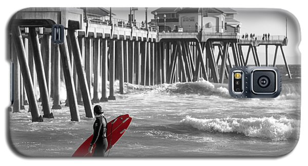 Existential Surfing At Huntington Beach Selective Color Galaxy S5 Case