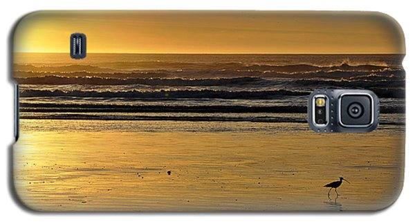 Galaxy S5 Case featuring the photograph Exit Stage Right by AJ  Schibig