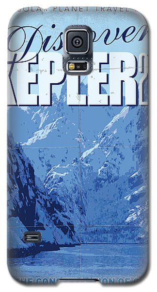 Exoplanet 02 Travel Poster Kepler 22b Galaxy S5 Case by Chungkong Art