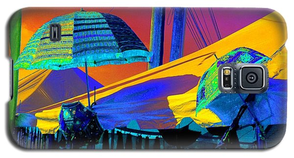Galaxy S5 Case featuring the photograph Exotic Parasols by Marianne Dow