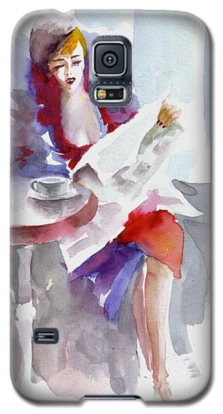 Galaxy S5 Case featuring the painting Expectation.. by Faruk Koksal