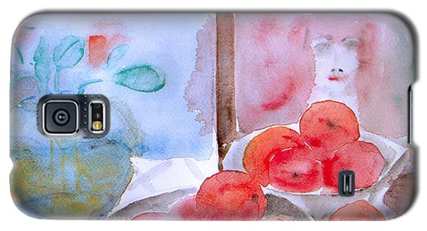 Galaxy S5 Case featuring the painting Expectation by Jasna Dragun