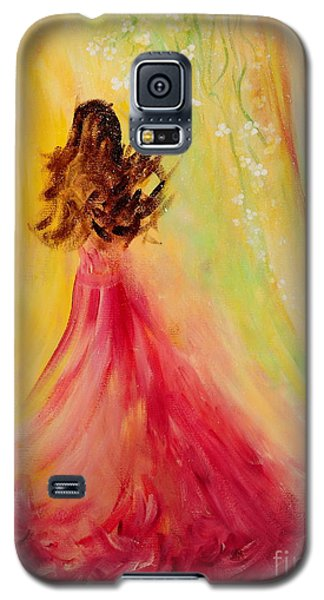 Galaxy S5 Case featuring the painting Expecting by Teresa Wegrzyn