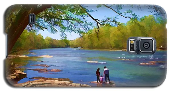Galaxy S5 Case featuring the photograph Exploring The River by Ludwig Keck