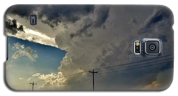 Galaxy S5 Case featuring the photograph Explosive Texas Supercell by Ed Sweeney