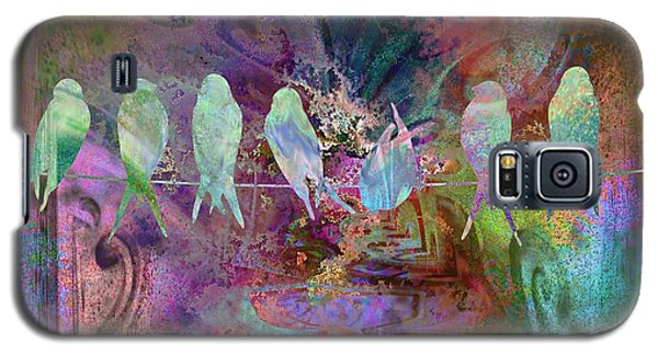 Express Yourself Birds On Wire Galaxy S5 Case