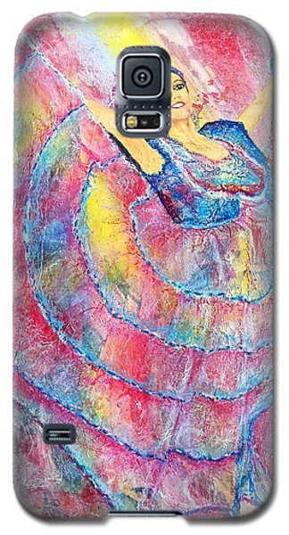 Galaxy S5 Case featuring the painting Expressing Her Passion by Susan DeLain