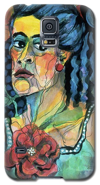 expressive portraits of women - The Faded Rose Galaxy S5 Case