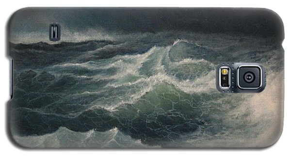 Galaxy S5 Case featuring the painting Eye Of Storm by Mikhail Savchenko