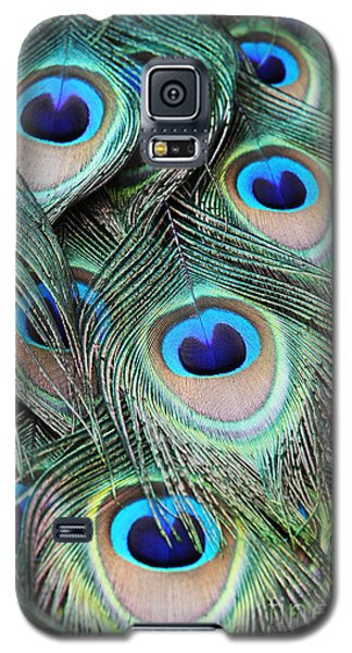 Galaxy S5 Case featuring the photograph Eye Of The Peacock #2 by Judy Whitton
