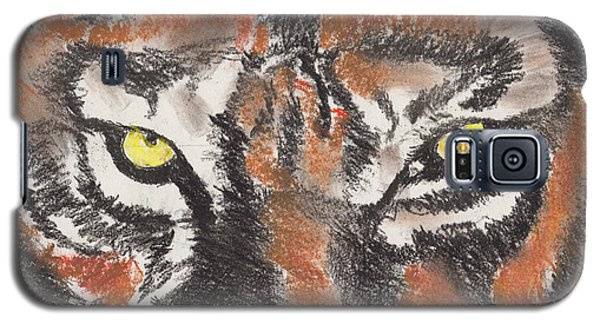 Galaxy S5 Case featuring the pastel Eye Of The Tiger by David Jackson