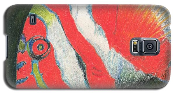 Galaxy S5 Case featuring the drawing Eye There by Sheila Byers
