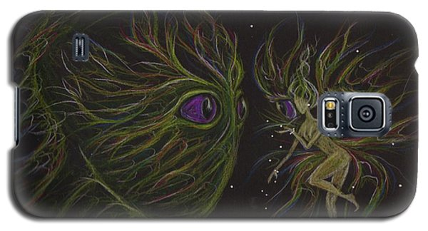 Galaxy S5 Case featuring the drawing Eye To Eye by Dawn Fairies