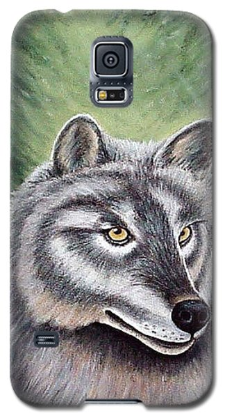 Eyes Of The Forest - Grey Wolf Galaxy S5 Case