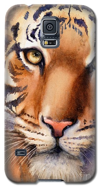 Galaxy S5 Case featuring the painting Eyes Of The Tiger by Bonnie Rinier