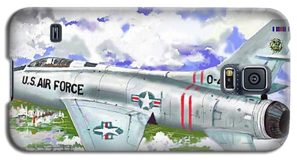 Galaxy S5 Case featuring the drawing F-100 D Super Sabre by Jim Hubbard