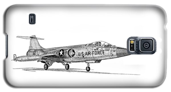 Galaxy S5 Case featuring the drawing F-104 Starfighter by Arthur Eggers