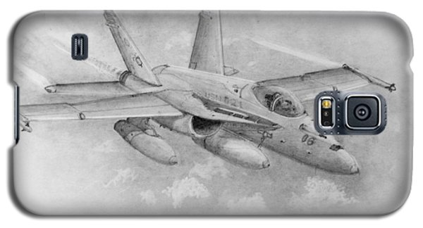 F-18 Super Hornet Galaxy S5 Case by Jim Hubbard