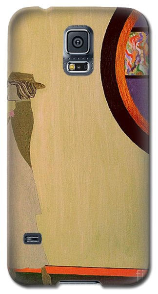 Galaxy S5 Case featuring the painting F Scott Waiting For Zelda by Bill OConnor