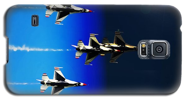 Galaxy S5 Case featuring the photograph F16 Flight Into Space by DigiArt Diaries by Vicky B Fuller