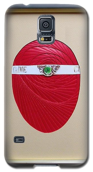 Galaxy S5 Case featuring the mixed media Faberge Egg 1 by Ron Davidson