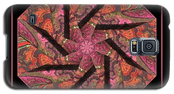 Galaxy S5 Case featuring the photograph Fabric In A Spin by Barbara MacPhail