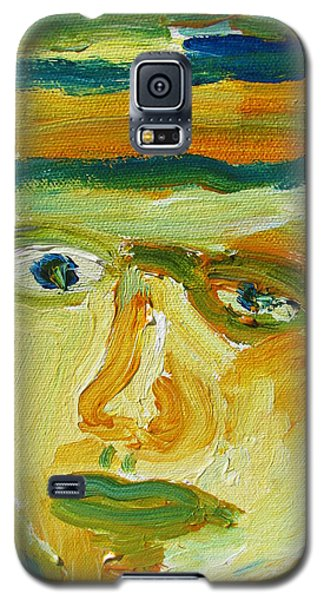 Galaxy S5 Case featuring the painting Face Eight by Shea Holliman