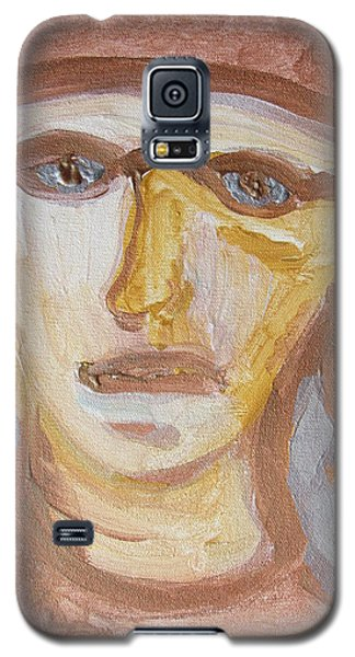 Galaxy S5 Case featuring the painting Face Five by Shea Holliman