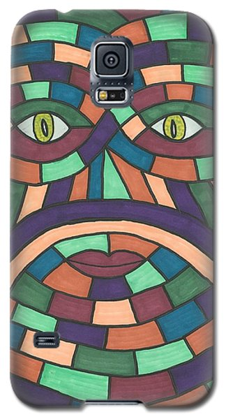 Galaxy S5 Case featuring the painting Face In The Maze by Susie Weber