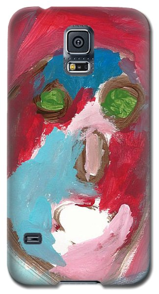 Galaxy S5 Case featuring the painting Face by Artists With Autism Inc