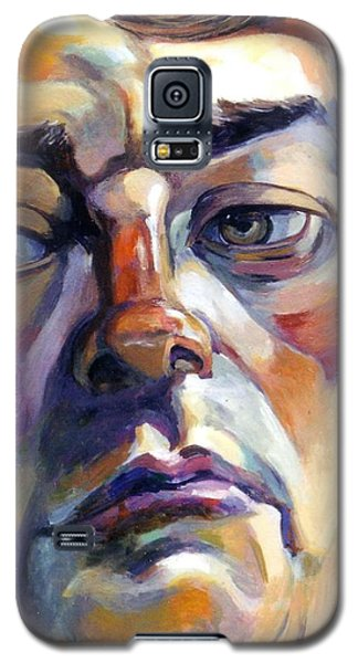 Face Of A Man Galaxy S5 Case by Stan Esson