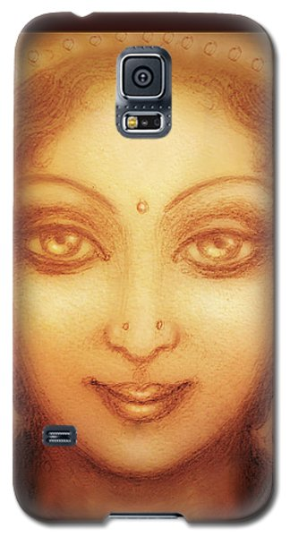 Face Of The Goddess/ Durga Face Galaxy S5 Case by Ananda Vdovic