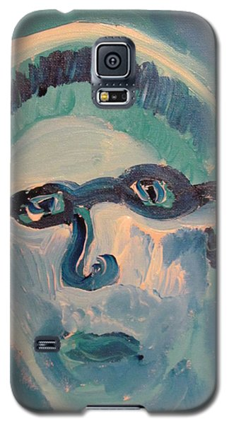 Galaxy S5 Case featuring the painting Face Three As Grandpa Snowman by Shea Holliman