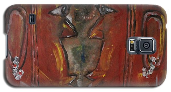 Galaxy S5 Case featuring the painting Face To Face by Lucy Matta