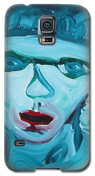 Galaxy S5 Case featuring the painting Face Two by Shea Holliman