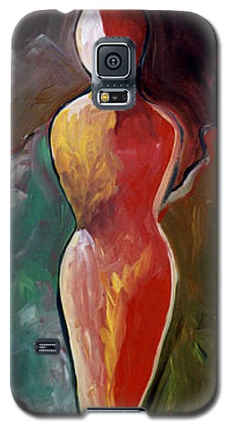 Galaxy S5 Case featuring the painting Faceless Figure by Lance Headlee