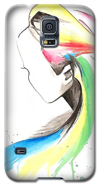 Galaxy S5 Case featuring the painting Faceless by Oddball Art Co by Lizzy Love