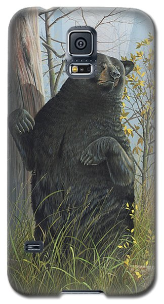 Galaxy S5 Case featuring the painting Fair Warning by Mike Brown