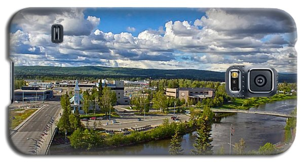 Galaxy S5 Case featuring the photograph Fairbanks Alaska The Golden Heart City 2014 by Michael Rogers